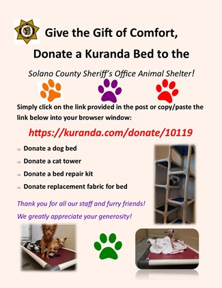 Please click here to donate a Kuranda bed!